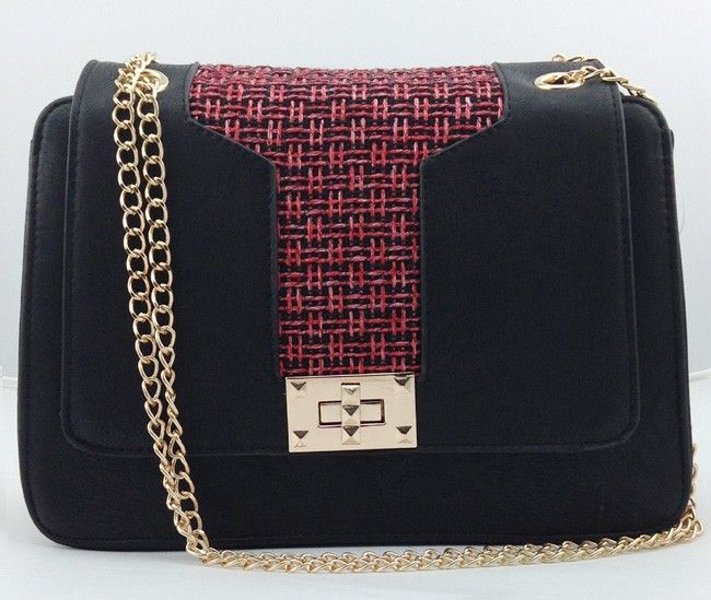 T Inlay Shoulder Bag Red