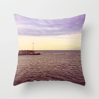 HARBOUR Throw Pillow by lilla värsting - $20.00