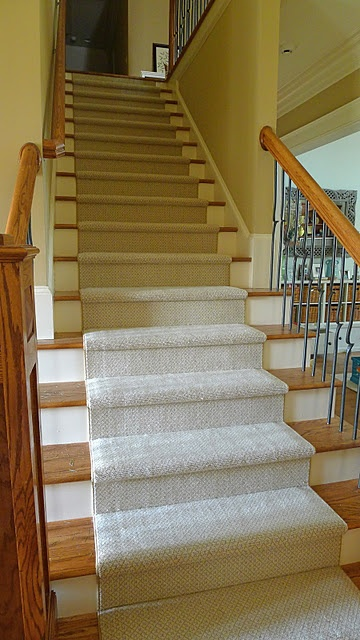 Great Way To Make Hardwood Stairs A Little Safer And Not So Slippery!