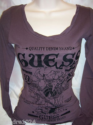 GUESS womans ITHACA Floral LOGO Long Sleeve Top