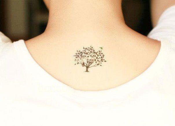 kleine boom tattoo | Tattoos met bomen en bladeren | Fashionlab