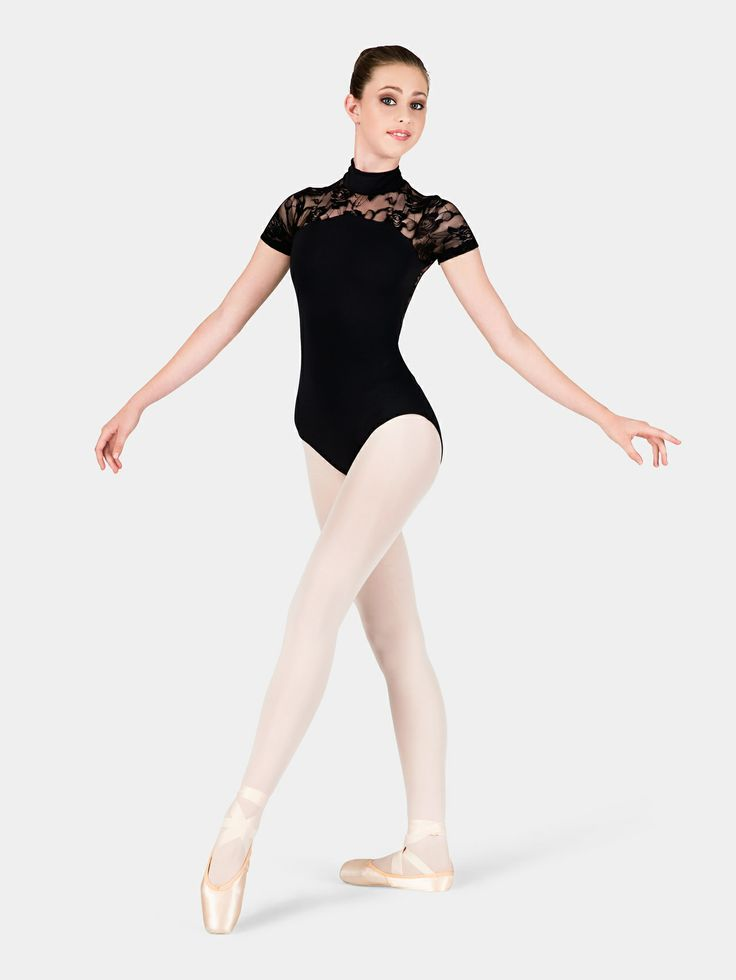 BAL TOGS ADULT LACE SHORT SLEEVE LEOTARD