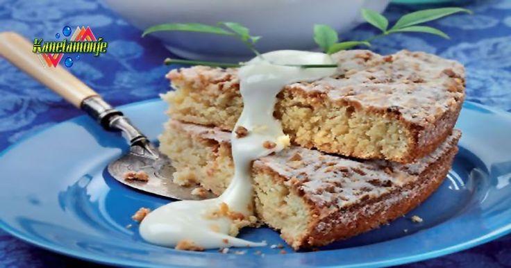 Riquísimo este Pastel de Almendras, una Receta de Postre que les van a encantar, sencillo y delicioso, ademas acompañado por una Crema de Chocolate Blanco, pulsando la foto tenéis la receta y compártela, si te gusta. http://kanelamonje.blogspot.com.es/2016/12/pastel-de-almendras.html