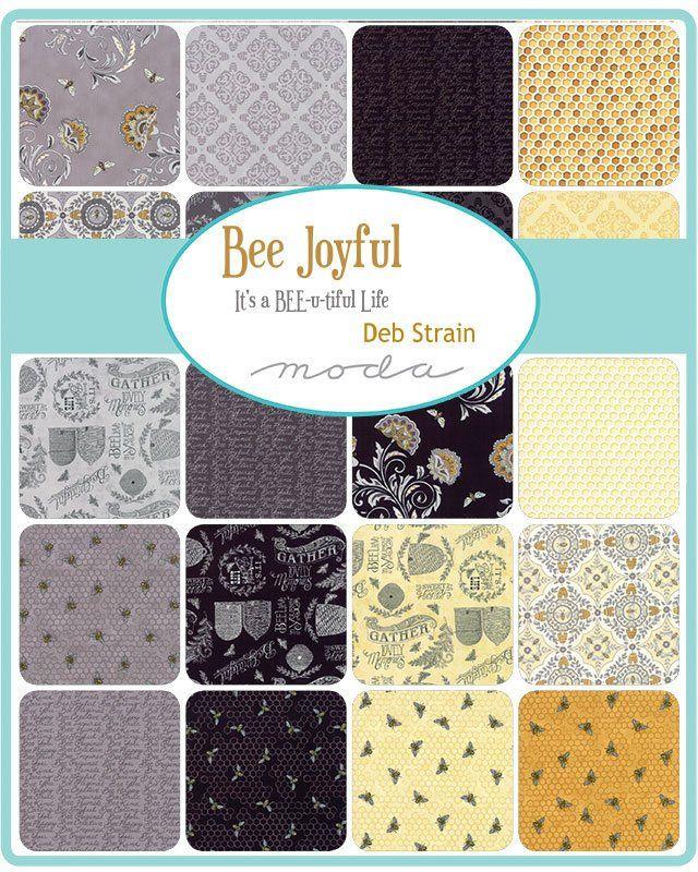 "Moda FABRIC Charm Pack ~ BEE JOYFUL ~ by Deb Strain 42-5/"" squares"