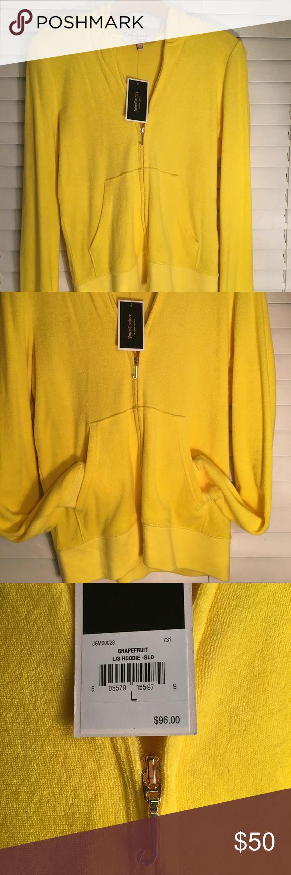 New Juicy (Grapefruit) zip up hoodie New Juicy Couture Color: Grapefruit/yellow -  zip up hoodie Juicy Couture Jackets & Coats