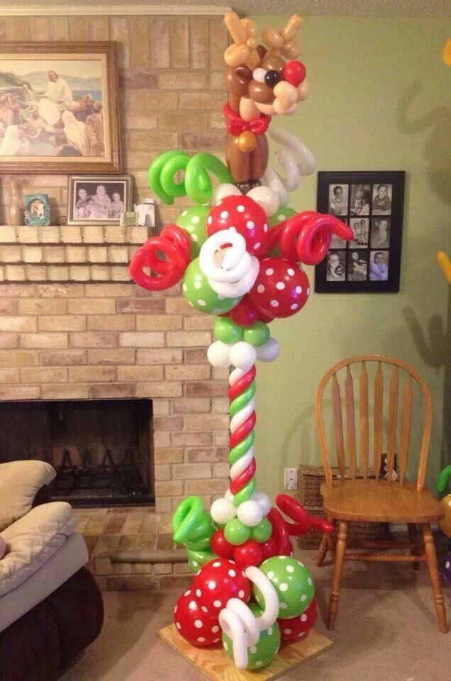 120 best christmas balloon decor images on pinterest for Balloon decoration guide