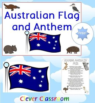 FREE Download - Australian Flag and Anthem - Advance Australia Fair PDF file Australian flag and anthem, including the 2nd verse. 2 page file for you to easily print and laminate and display as a ready reference in your classroom. One full-page with the Australian flag displayed.
