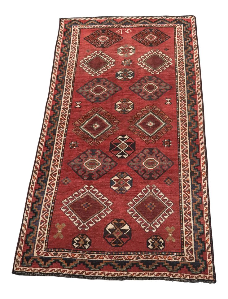 5'x9' Gorgeous Vintage Persian Shiraz Small Area Rug is a gorgeous thick Persian Shiraz rug that is thick and heavy and in excellent condition. Thanks for visiting our shop! We have Free Shipping so that you can try before you buy. We also will send you a video of any rug over $3000.00 if your request it in the comments. We would love for you to follow us so that you can be the first to receive updates about our rugs that go live, and also be instantly alerted when a rug that you fav...