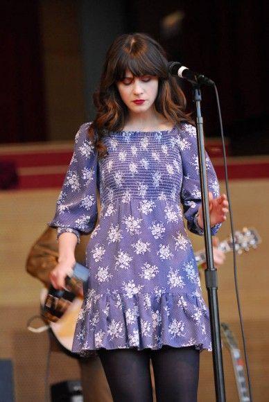 Blue Half Sleeve Dress – She & Him – Chigaco's Millenium Park 2010