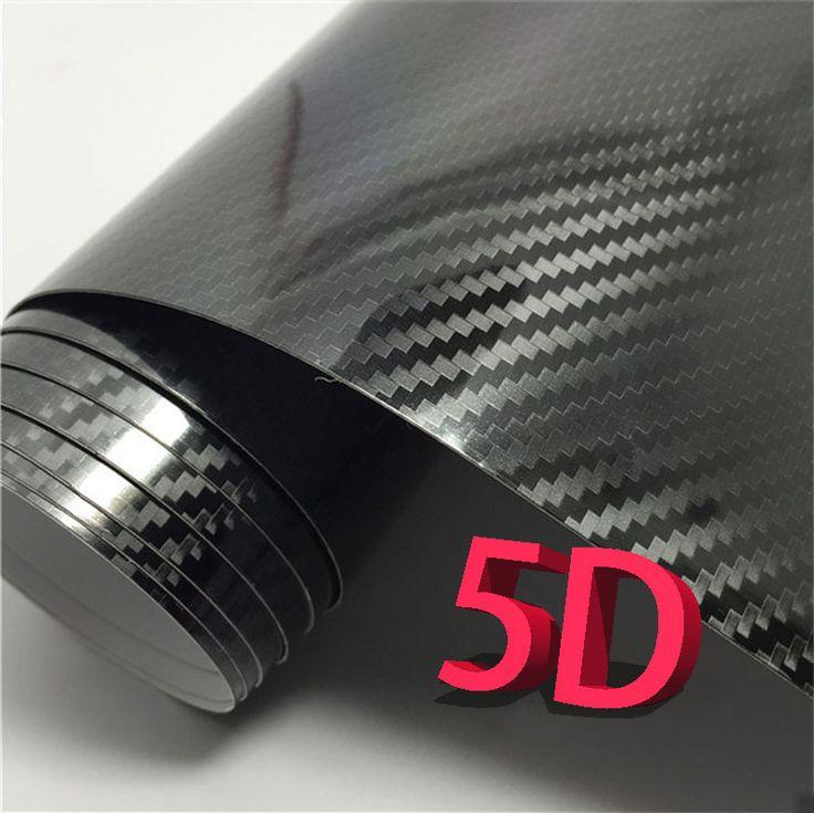 30*100センチ3dカースタイリング5d炭素繊維ファイバービニールフィルムオートバイカーアクセサリー車のステッカーとデカール防水ラップ