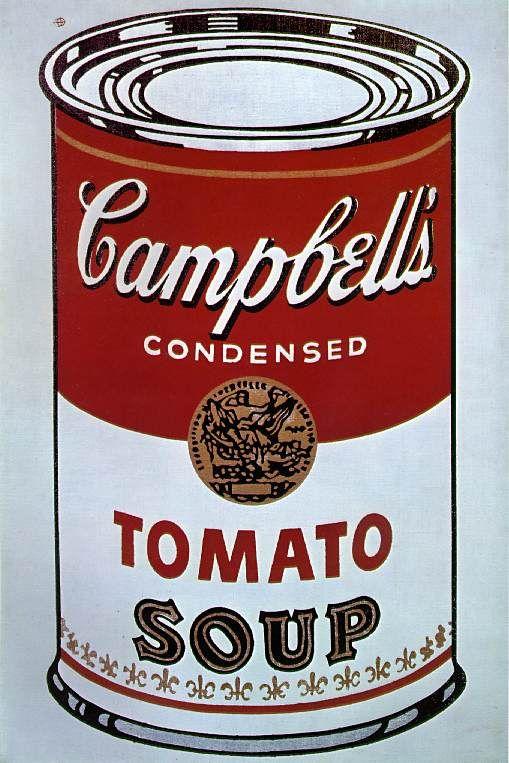Lata de sopa Campbell, 1964 Andy Warhol (EUA, 1930-1987) Silkscreen sobre tela, 90 x 60 cm