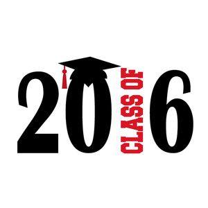 Silhouette Design Store - View Design #127379: class of 2016 title