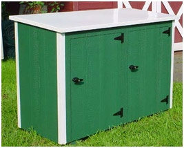 Assembled Outdoor Garbage Can Enclosure