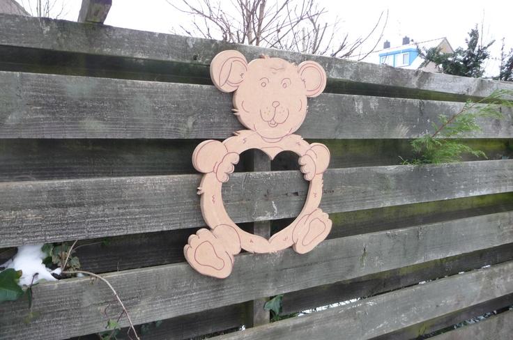 Teddy Bear  Mirror while holding a love hart.. @FunkyMirrors