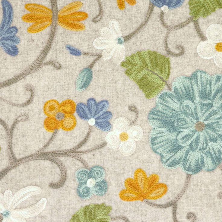 Lisolaith - Seathistle fabric, from the Rapunzel collection by Voyage