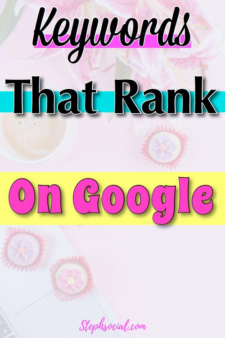 Die besten Keywords für die Google-Suche!