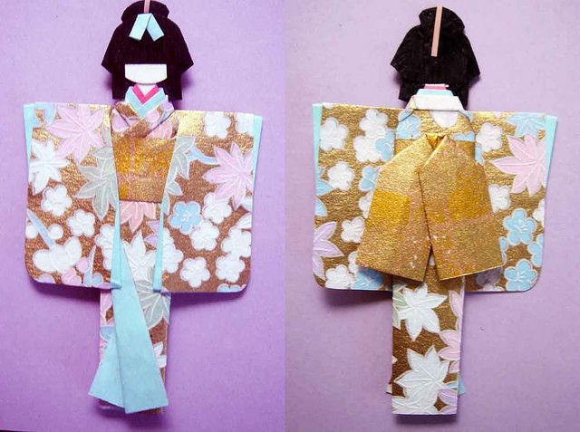Hand-made Japanese paper doll by tengds, via Flickr