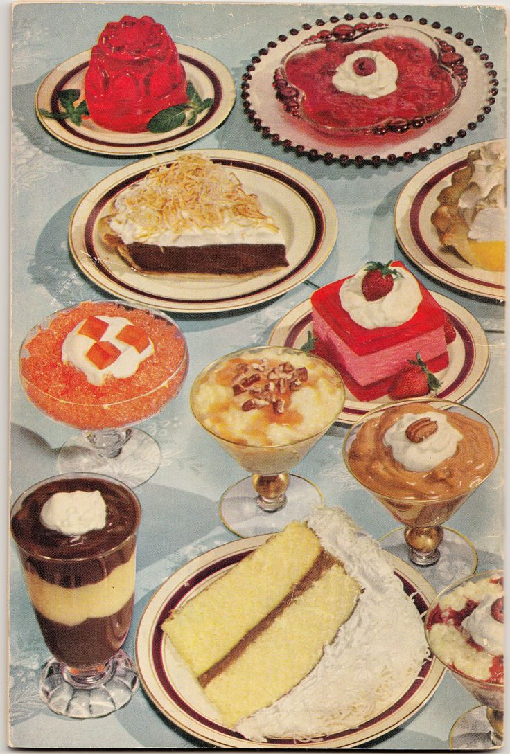 Back cover Jello New Desserts recipe book