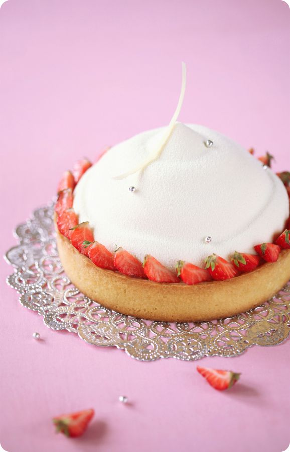 Verdade de sabor: Ванильный торт-мусс с клубникой и миндалём / Torta mousse de baunilha com morango e amêndoa