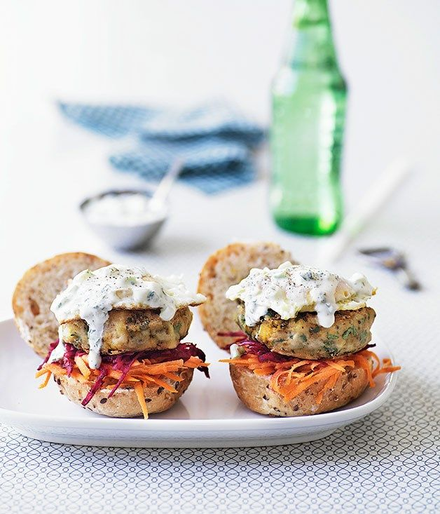 Australian Gourmet Traveller reicpe for Indian vegie burgers