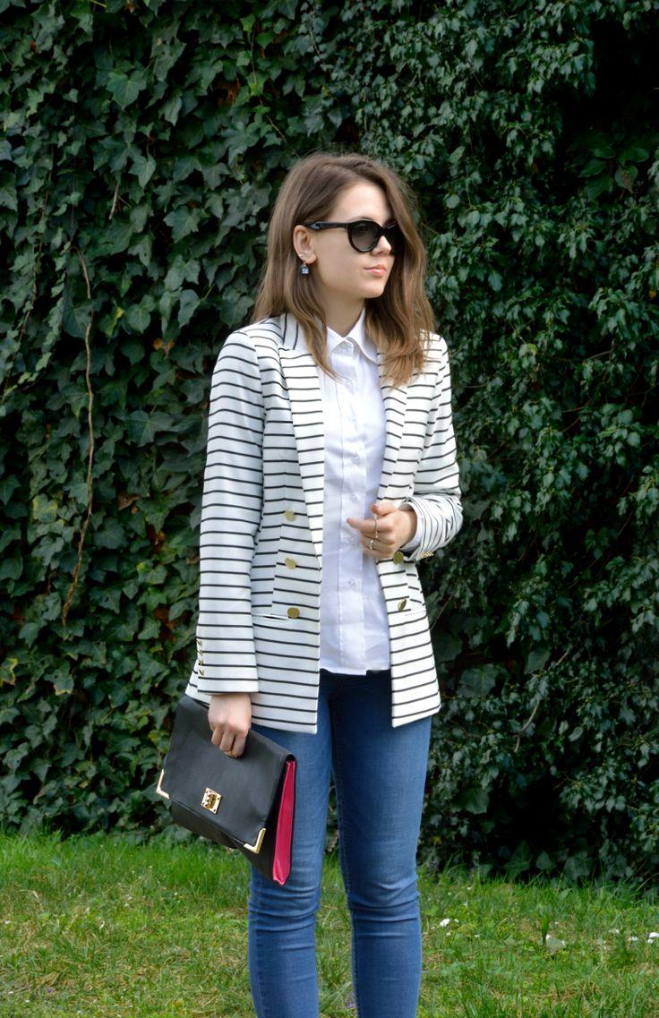 https://ellysafashion.wordpress.com/2015/04/01/primavera/ #casualchic #blazer #jeans #zara #hm #whiteshirt #fashion #fashionblogger #spring