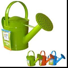 Twigz watering cans come in four different colours (blue, orange, green and pink), all 1.5 Litre in volume and have two handles – one handle over the top of the body for carrying around the garden and another on the back of the body to tilt water over plants.  $18.95  www.gardening4kids.com.au