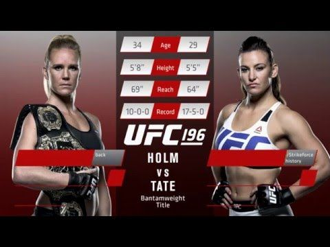 UFC (Ultimate Fighting Championship): UFC 196: Inside The Octagon - Holm vs. Tate
