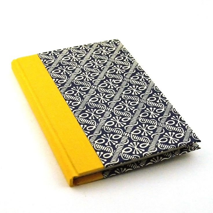 Nauli handmade Address Book yellow blue - pinned by pin4etsy.com