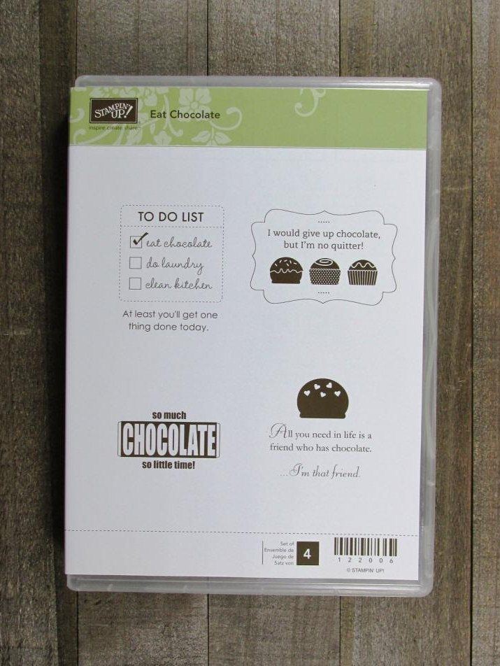 """Stampin' Up! """"Eat Chocolate"""" by CherylsStampStuff on Etsy"""
