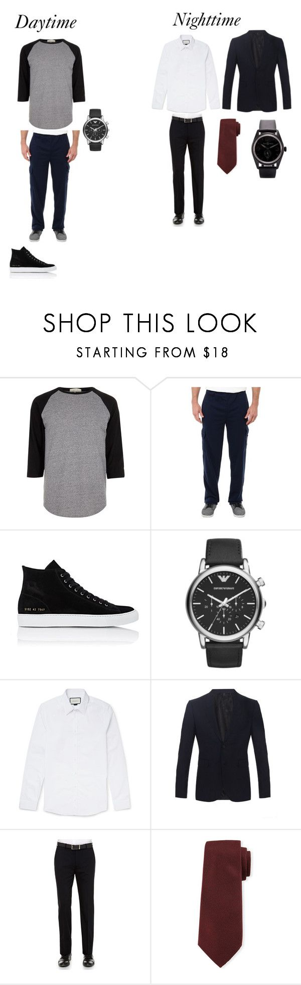 """""""Playtime Oliver"""" by sara-scott-i on Polyvore featuring River Island, U.S. Polo Assn., Common Projects, Emporio Armani, Gucci, Burberry, Theory, Davidoff, Bell & Ross and men's fashion"""