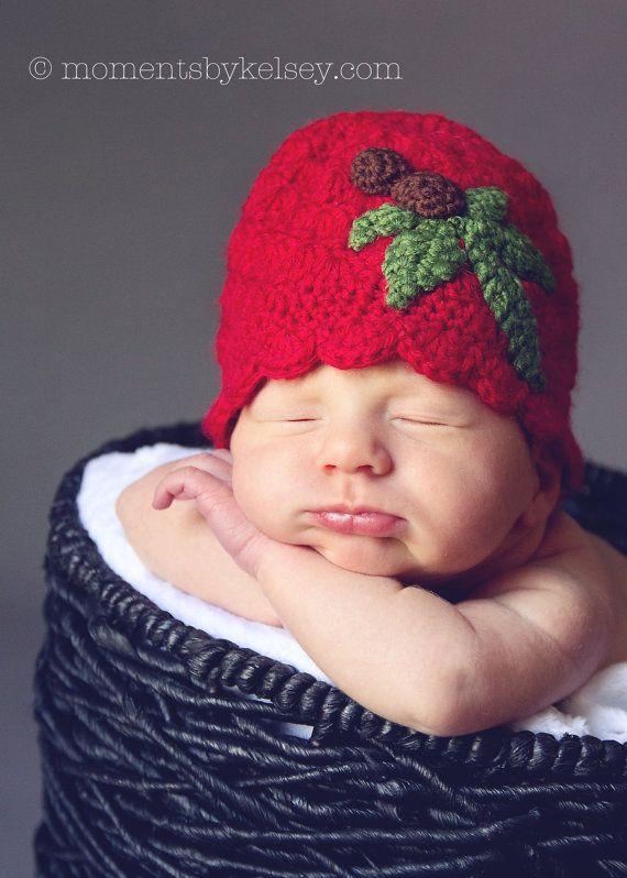 Ohio State University OSU Buckeye Crochet Hat  by EweniqueBoutique