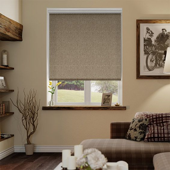 Choices Marle Taupe Grey Roller Blind from Blinds 2go