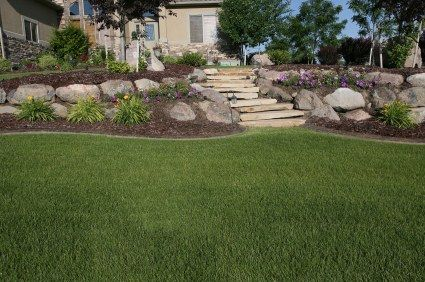 tiered yard landscaping | This backyard had level changes ... on Tiered Yard Landscaping id=29080