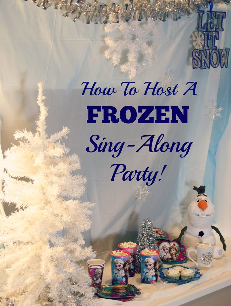 How To Host A Disney Frozen Sing Along Pajama Party AD