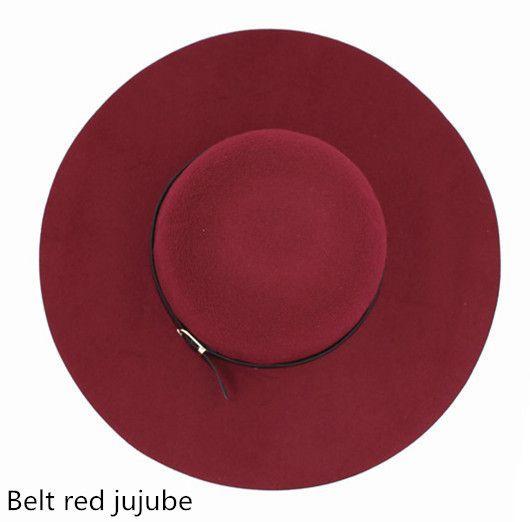 18 Colors Spring Summer Fashion Vintage Wide-Brim Fedoras Hats for Women Bowler Floppy Feminino Sun Cap Ladies Chapeau