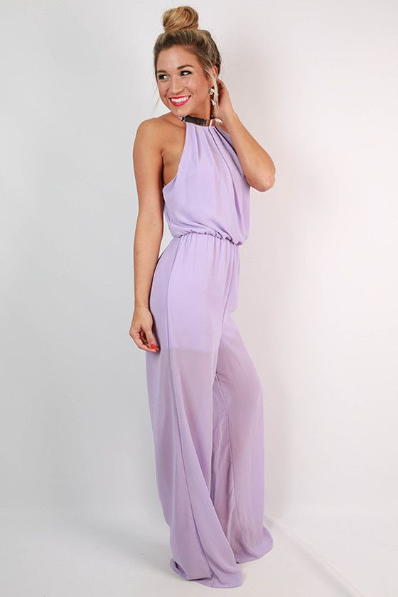 Hollywood Hills Jumpsuit in Lavender