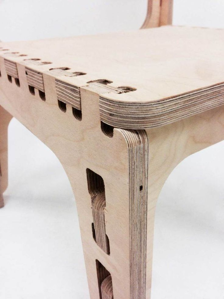 Cnc Router Chair Design Everything Fits Together Without