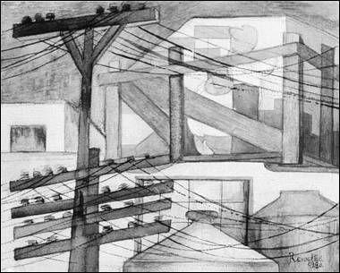 Fermín Revueltas, Andamios exteriores, 1923.  Respuesta plástica al poemario Andamios interiores (1922), de Maples Arce.
