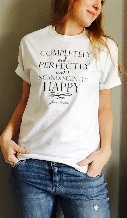 """If you are a hopeless romantic and LOVE all things Jane Austen - then these """"Pride and Prejudice"""" tees are just for you! Mr. Darcy said all the right things to Miss Elizabeth...and eventually he won her over. We've chosen some of our favorite quotes from """"Pride and Prejudice"""" and have no doubt these tees will make the perfect addition to your casual jean and t-shirt days. Designs: You have Bewitched meBody and Soul (In Black Ink) You must allow me to tell you ho..."""