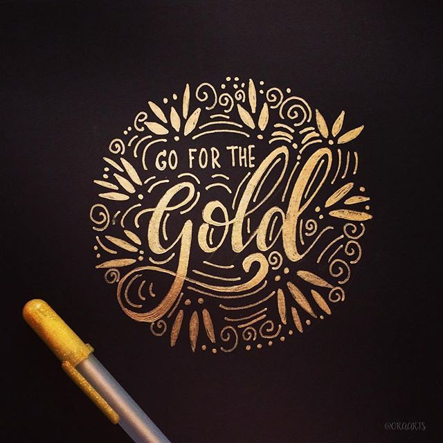 Go for the gold! ✨⭐️️ Day 8 of #JanuaryLetteringMotivation . . And 8/365 of my hand lettering and drawing project!!! #orahandlettering . . #365daysoflettering #365daysoftype #calligraphy #lettering #handlettering #handletteringnewbie #modernlettering #moderncalligraphy #dailylettering #letteringchallenge #dailychallenge #brushpen #typespire #typography #typographyinspired #brushtype #type #handdrawn #handdrawntype #thedailytype #brushlettering #handmade #handmadefont #handwritten