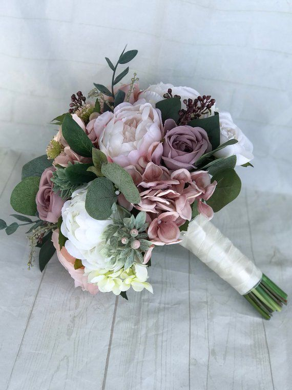 Wedding bouquet Dusty Rose Bridal bouquet Blush Wedding Etsy