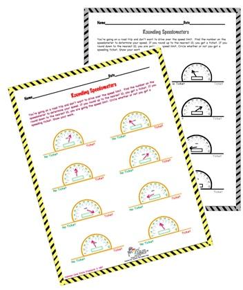 Free Rounding Worksheet Use This Rounding Speedometer