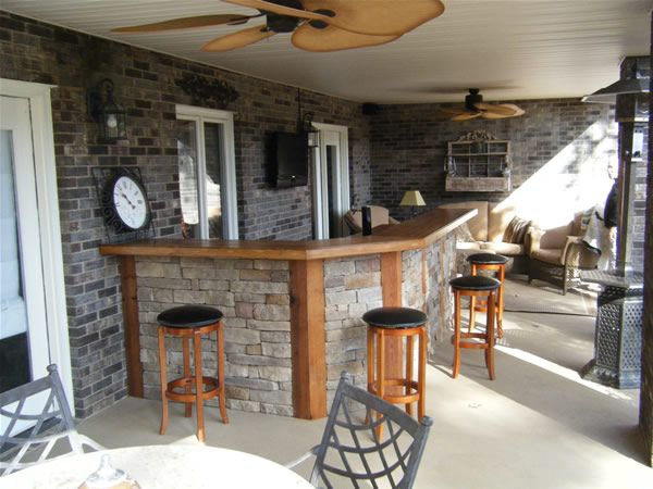 Outside bar indoor and outdoor bars for charlotte and lake norman homes future home - Inspirational home bar design ...