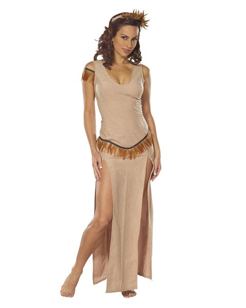 Sexy Adult Indian Maiden Costume,$30.46