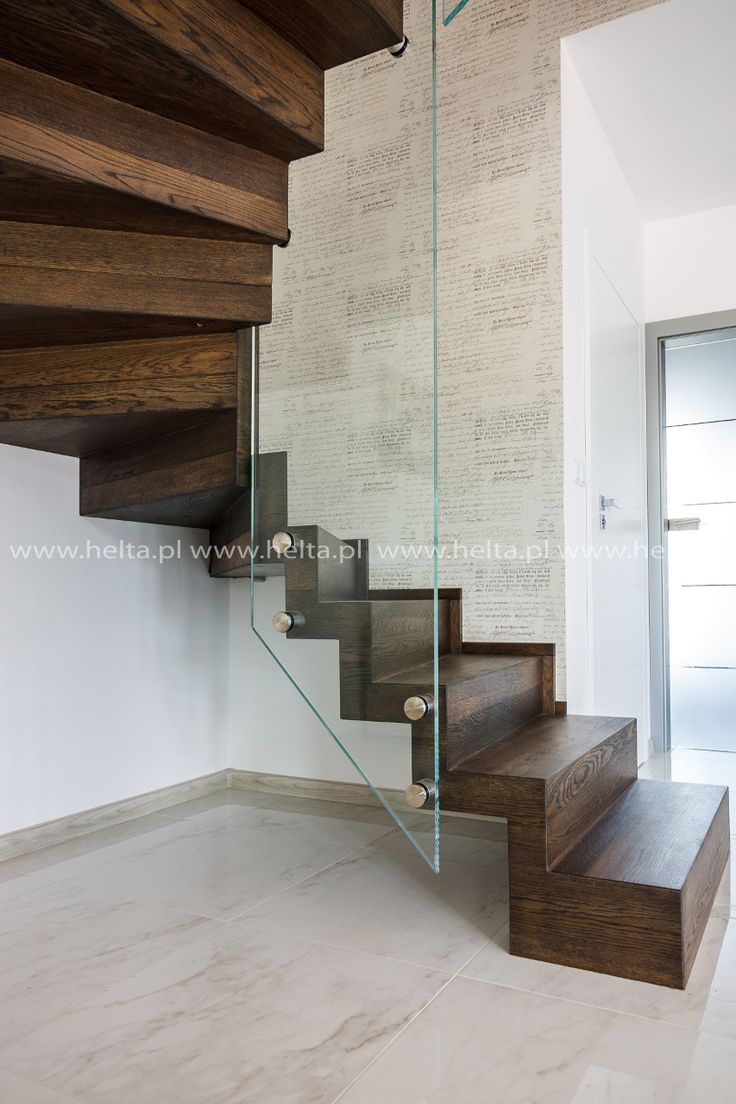 Schody wewnętrzne drewniane, schody dębowe, schody ...