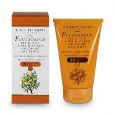 Öregedés gátló napvédő tej SPF20 - Rendeld meg online! Lerbolario Naturkozmetikumok http://lerbolario-naturkozmetikumok.hu/kategoriak/napozo-termekek