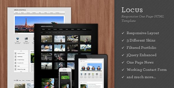 Locus - Responsive One Page HTML Template - ThemeForest Item for Sale