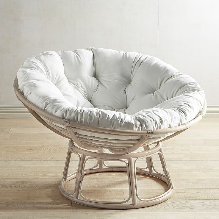 Papasan Whitewash Chair Frame Stone Wash