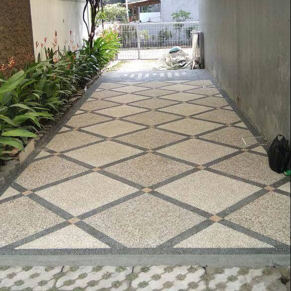 Lantai Carport Sebagai Pengganti Keramik Di Bentuk Dengan Pola Dan Motif Sedemikian Rupa Lantai Garasi Desain