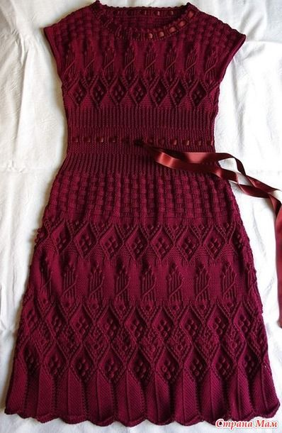 Он-лайн для вязания платья - Элегантность от Dior Умопомрачительное платье!!! просто ах!!!